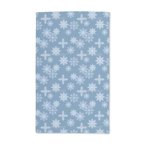 Ice Crystals Blue Hand Towel (Set of 2)