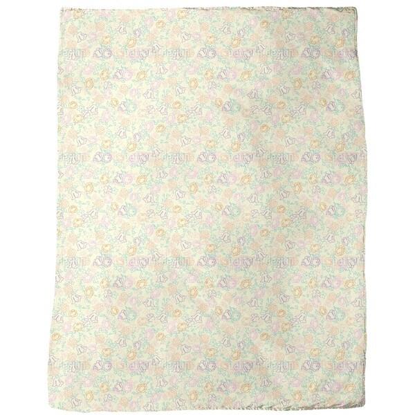 Cute Flowers  Fleece Blanket