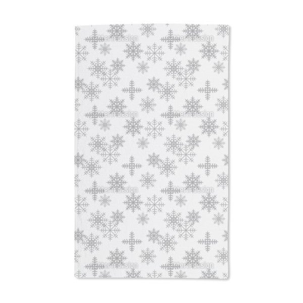 Crystals White Hand Towel (Set of 2)