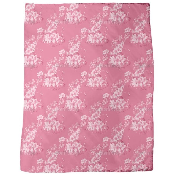 Flora Antique Fleece Blanket