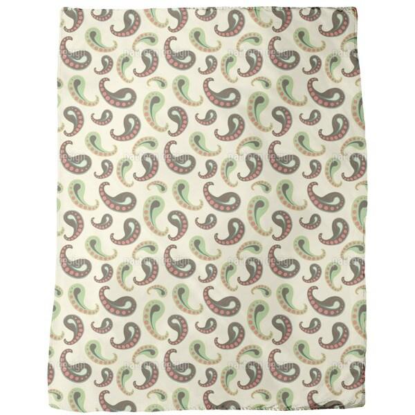 Softice Paisley Fleece Blanket