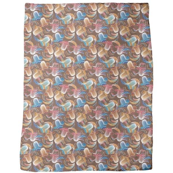 Dolores Brown Fleece Blanket