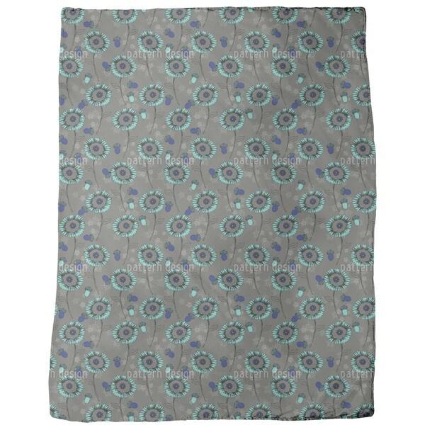Bohemian Fantasy Flowers Fleece Blanket