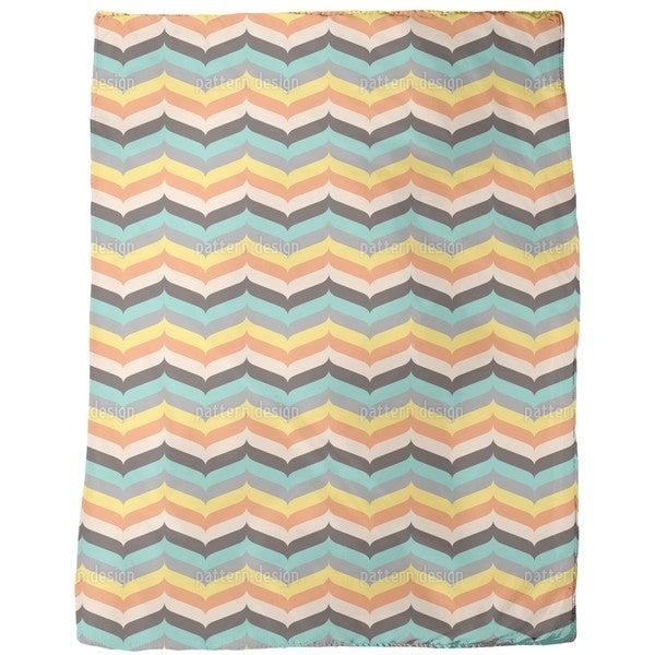 Herringbone Autumn Vibrations Fleece Blanket