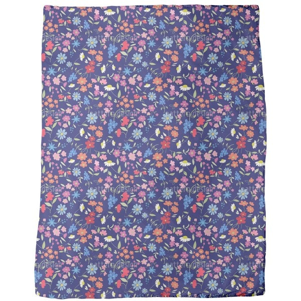 Flower Mix Fleece Blanket