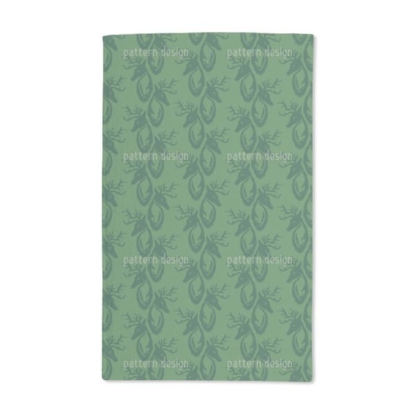 Green Stag Hand Towel (Set of 2)