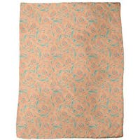Copper Engraving Orange Fleece Blanket