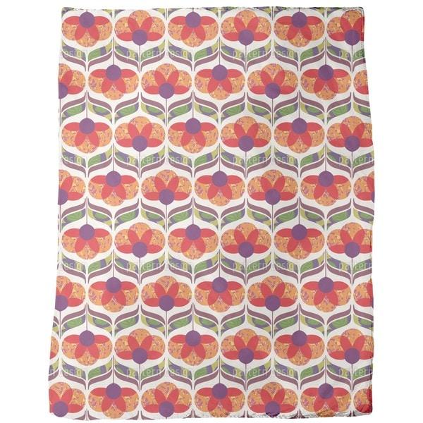 Flower Power Design Fleece Blanket