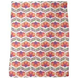 Flower Power Design Fleece Blanket