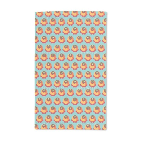 Buddy Orange Hand Towel (Set of 2)
