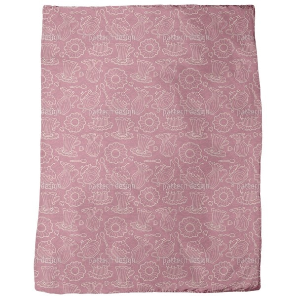 Hen Party Red Fleece Blanket