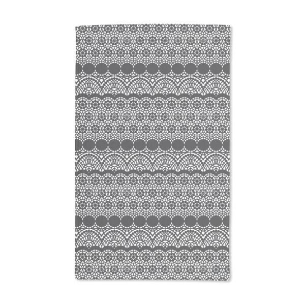 Alhambra Black Hand Towel (Set of 2)