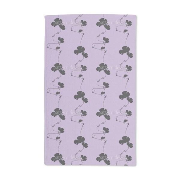 Shadow Play Purple Hand Towel (Set of 2)