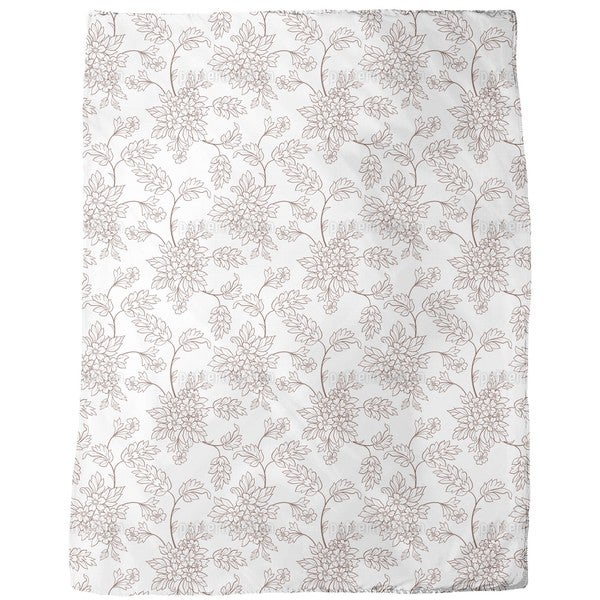 Bouquet Outlines Fleece Blanket