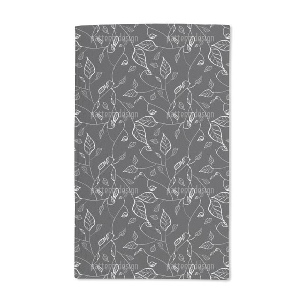 At Night in Leafy Forest Hand Towel (Set of 2)