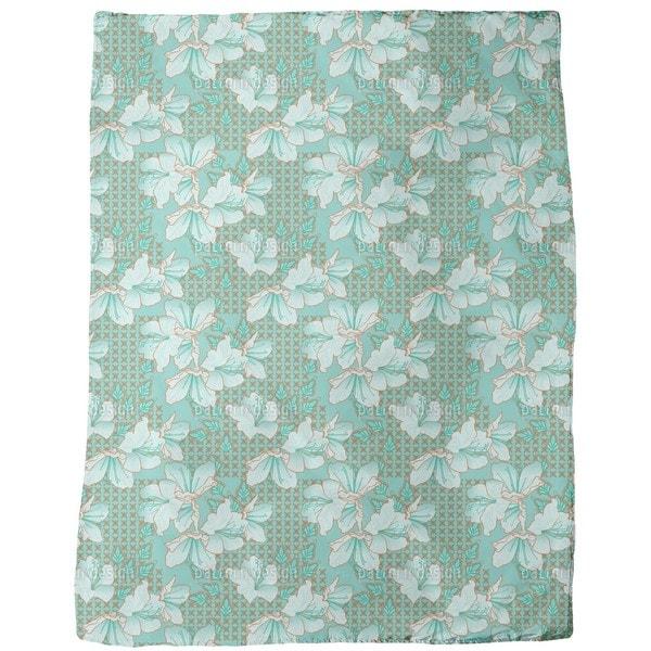 Oriental Blossoms Fleece Blanket