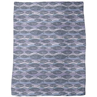 Fish on Pacific Waves Fleece Blanket