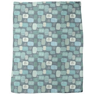 Patches in Blue Fleece Blanket