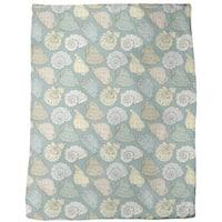Hand-drawn Seashells Fleece Blanket