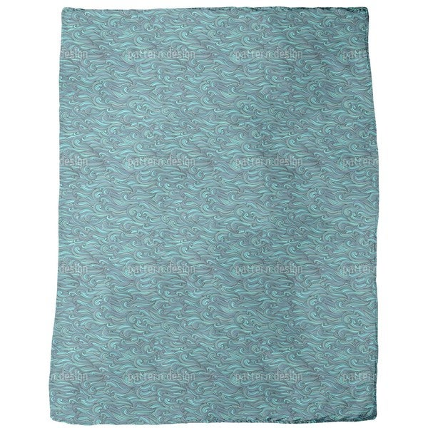 The Mermaids Gentle Swell Fleece Blanket