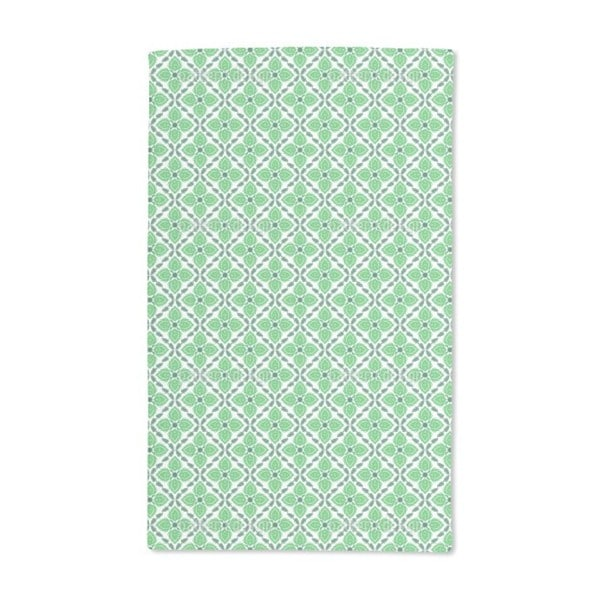 Captivating Green Hand Towel (Set of 2)