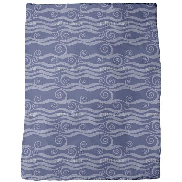 Waves and Twirls Fleece Blanket