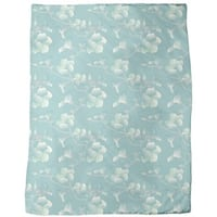 Pastel Hibiscus Fleece Blanket