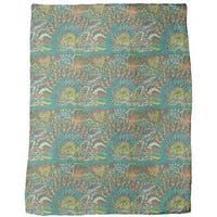 Reef Garden of the Ocean King Fleece Blanket