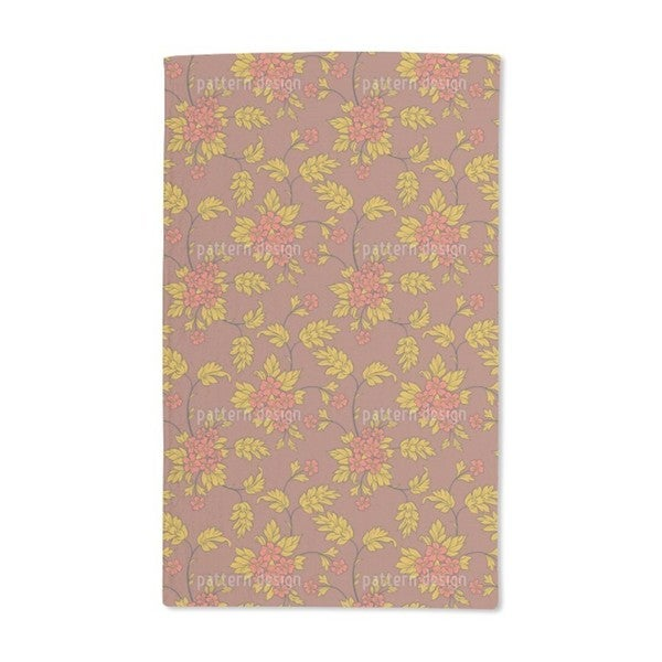 Bouquet Mocca Hand Towel (Set of 2)