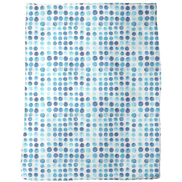 Watercolor Polka Dot Fleece Blanket