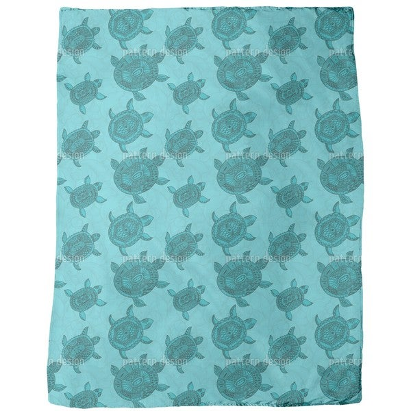 Polynesian Sea Turtles Fleece Blanket