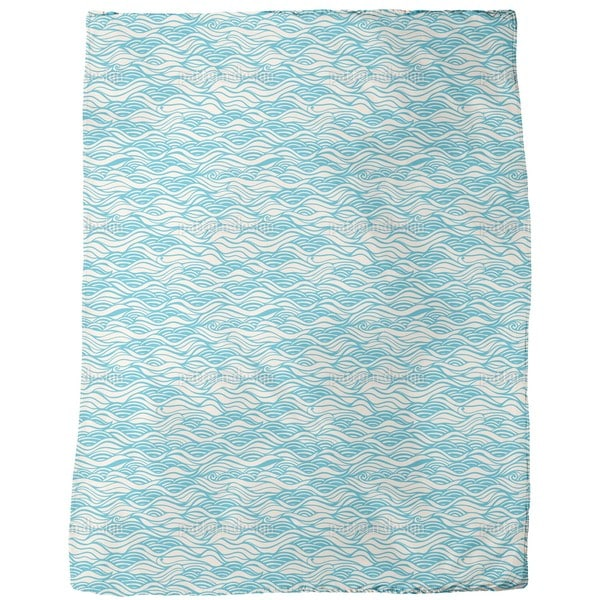 They Dreamed of Gentle Ocean Waves Fleece Blanket