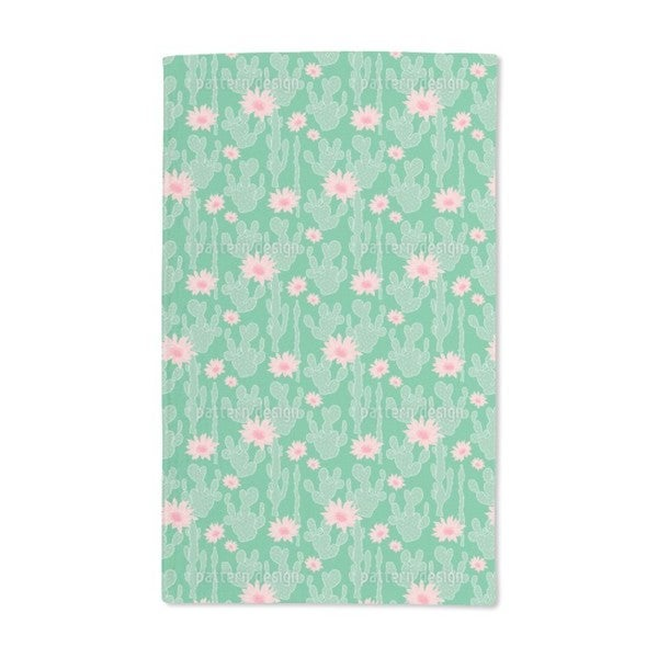 Cactus in Bloom Hand Towel (Set of 2)