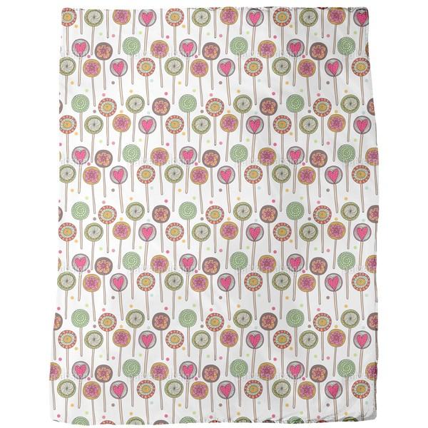 I Love Lollies Fleece Blanket