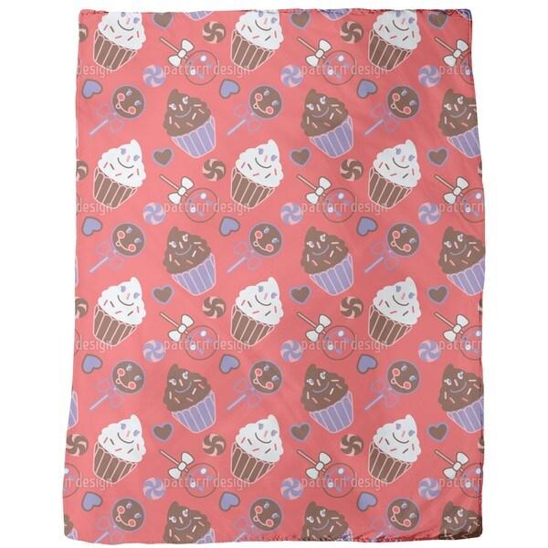 Happy Desserts Red Fleece Blanket