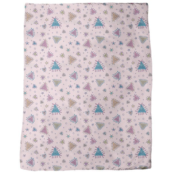 Berry Fall Pink Fleece Blanket