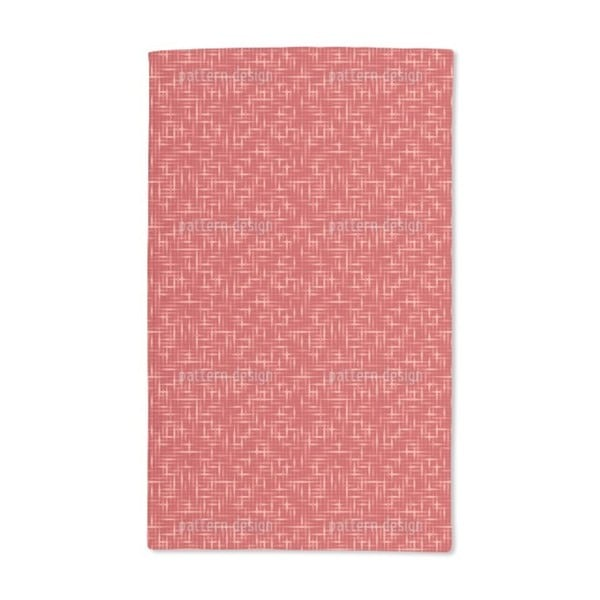 Textus Red Hand Towel (Set of 2)