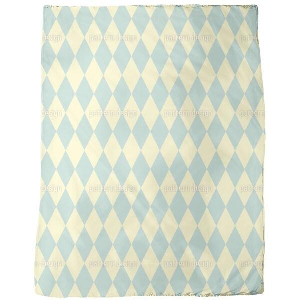 Pastel Harlequin Fleece Blanket