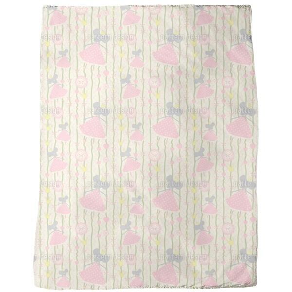 Little Mice Princess Birthday Fleece Blanket
