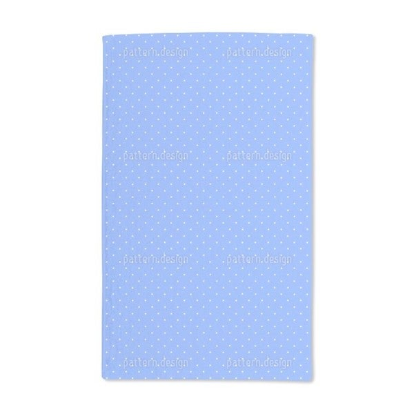 Dots on Blue Hand Towel (Set of 2)