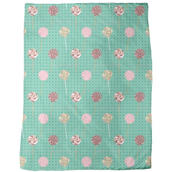 Lollipop Polka Dot Fleece Blanket