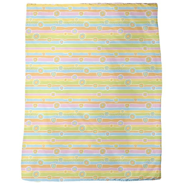 Funny Stripes and Circles Fleece Blanket