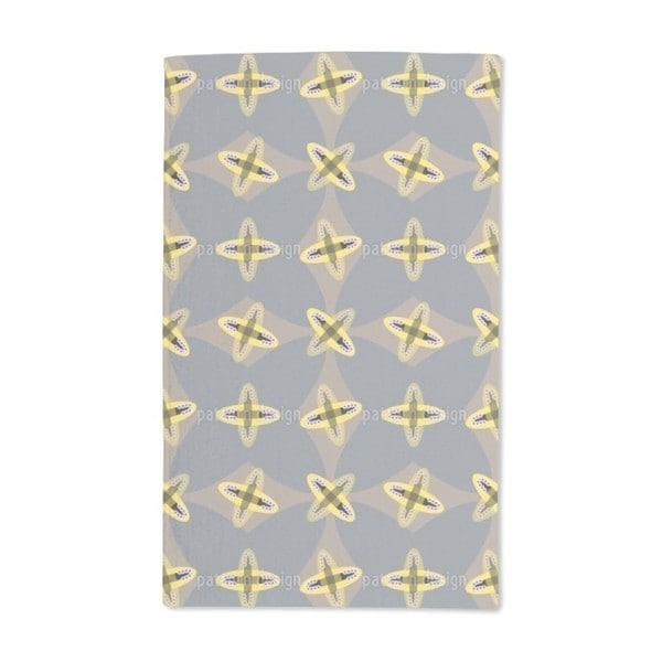 Crossed Ovals Hand Towel (Set of 2)