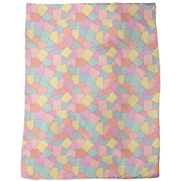 Abstract Tiles Fleece Blanket