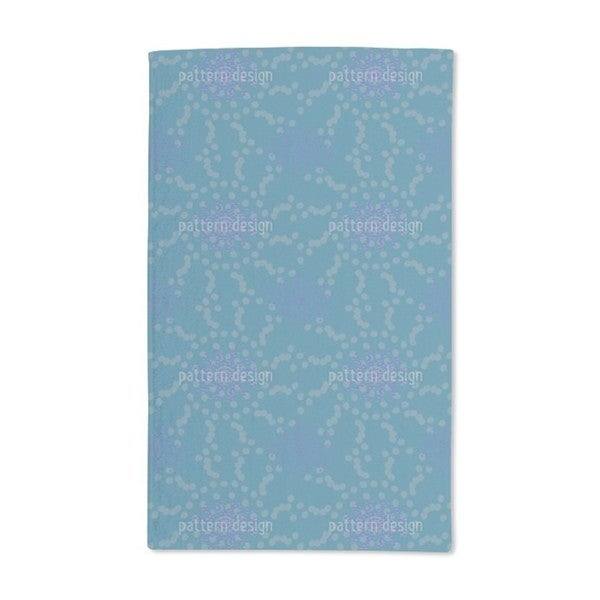 Dotted Flowers Hand Towel (Set of 2)