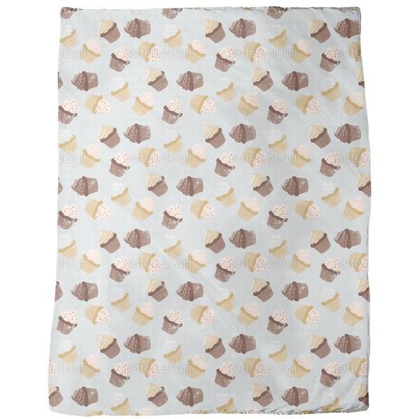 Cupcakes Grey Fleece Blanket
