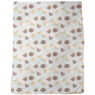 Cupcakes Grey Fleece Blanket