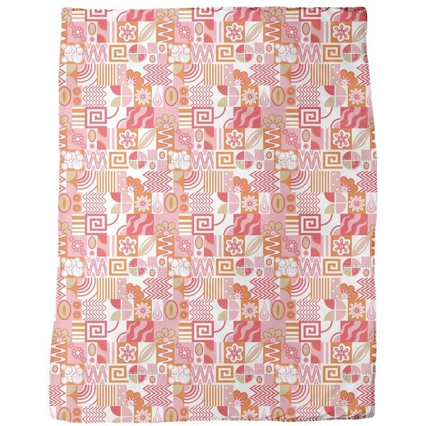 Retro Potpourri Light Fleece Blanket