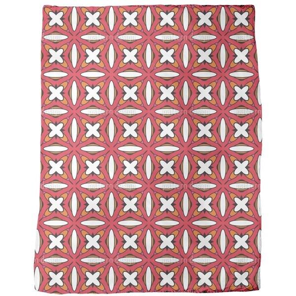Retro Cross Stitching Fleece Blanket