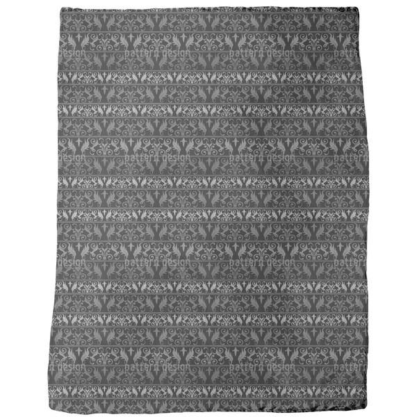Encora Black Fleece Blanket